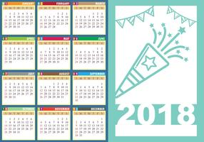 Design Vorlage Des Desk Kalender 2018