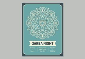 Garba affischmall vektor