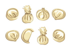 Dumplings Ikoner Vector