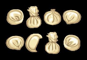 Knödel Icons Vektor