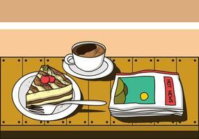 Tiramisu süßer Kuchen vektor