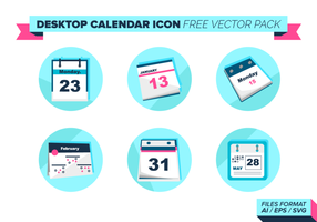 Desktop Calendar Icon Gratis Vector Pack