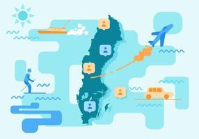 Kostenlos Unique Sweden Map Vectors