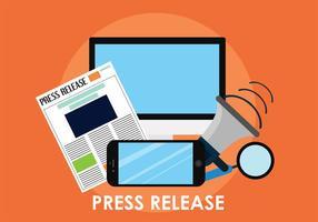 Press Release Vector Art