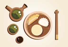 Asien Küche Vektor
