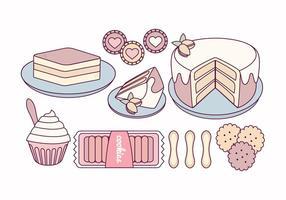 Vektor Tiramisu och godis illustration