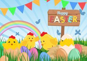 Netter glücklicher Ostern-Hintergrund vektor