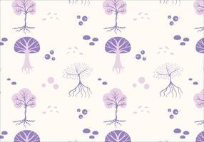 Träd sömlösa mönster vektor