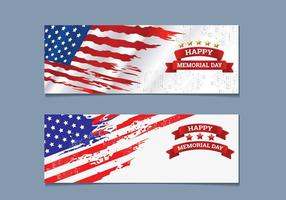 Memorial Day Banner Collection vektor