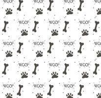 Hund Fußabdruck Muster Vektor