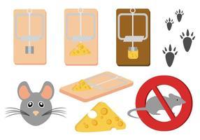 Kostenlose Maus und Mausefalle Vektor
