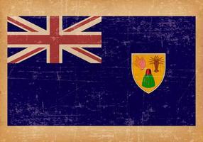 Grunge Flagge der Türken und Caicos Inseln vektor