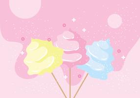 Candy Floss Vektor-Illustration vektor