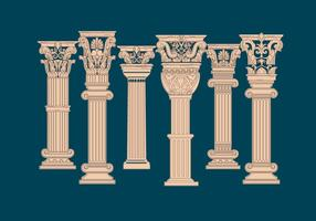 Korintisk pelarevektor vektor