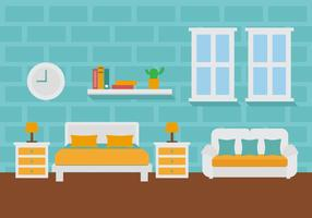 Gratis Room Decoration Vector Illustration