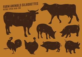 Bauernhof Tier Silhouetten Sammlung