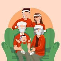 Familientreffen an Weihnachten mit Protokoll vektor