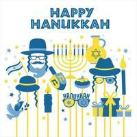 jüdische Feiertags-Chanukka-Grußkarte