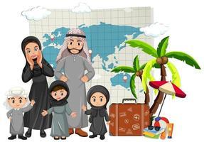 arabisk familj på semester vektor