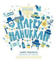 judisk semester hanukkah gratulationskort