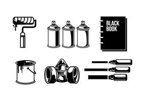 Graffiti-Werkzeuge Vektor