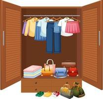 clohed hängande i garderoben isolerad