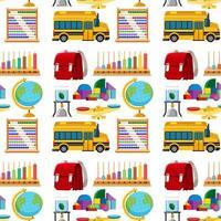 Satz stationäre Werkzeuge und Schule nahtlos vektor