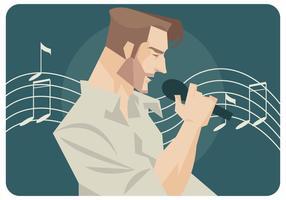 Pop sångare vektor