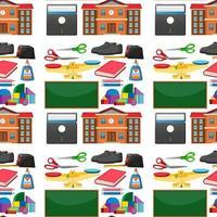 uppsättning stationära verktyg och sömlös skola