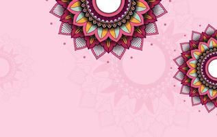 bakgrundsmall med mandala mönster design vektor