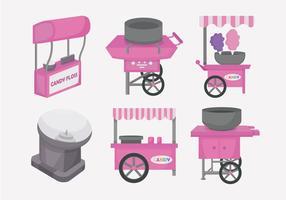 Candy Floss Cart Vector Illustration