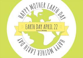 Flat Style Happy Earth Day Illustration vektor