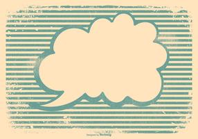 Retro Grunge Blank Rede Blase Hintergrund vektor