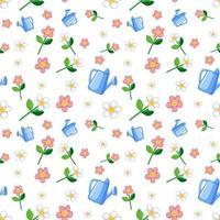 Satz von niedlichen rosa Blumen und Blatt
