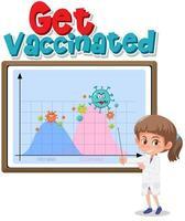 vaccineras med andra vågdiagrammet vektor