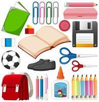 uppsättning stationära verktyg och skola