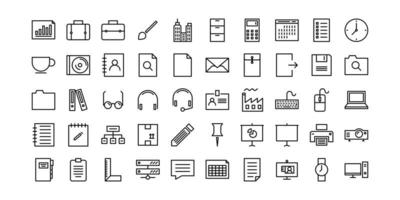 Office Line Icons vektor