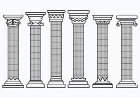 Sats av korintiska kolumner vektor
