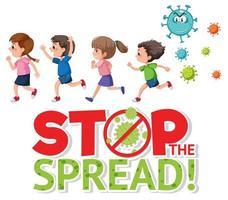 Stoppen Sie die Verbreitung des Coronavirus-Zeichens vektor