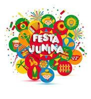 Festa Junina Festival Schriftzug vektor