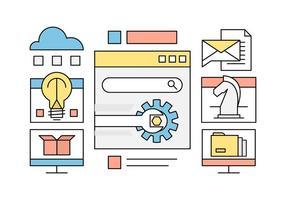 Free Web Design und Entwicklung Vector Elements