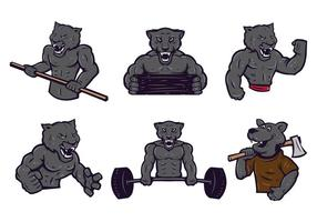 Gratis Panthers Logo Vector Set