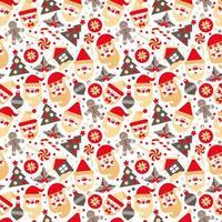 bakgrund gjord av jul designelement vektor