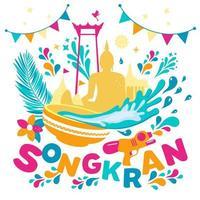 Songkran Festival Hintergrund vektor