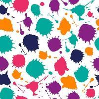 helle Farbe nahtloses Muster von handgezeichneten Flecken.