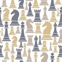 sömlösa mönster med schackfigurer