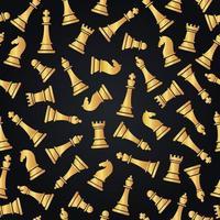 nahtloses Muster mit Schachfiguren vektor