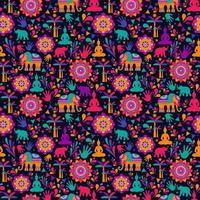 lycklig holifestival, färgglada element vektor