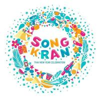 songkran festival bakgrund vektor