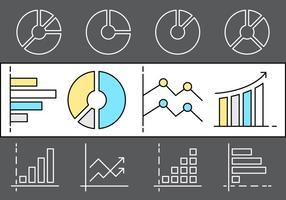 Lineare infografische Vektorelemente vektor